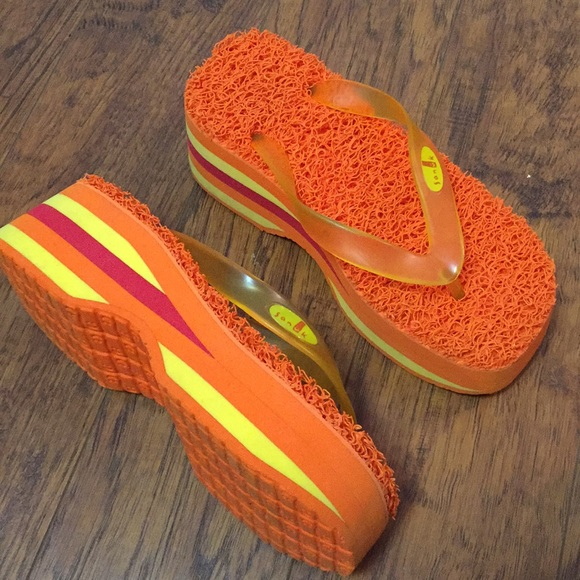 Sanuk - Sanuk Voodoo Platform Sandals Flip Flips Size 7 -5697